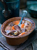 Daube provencale (French stew) with beef and carrots