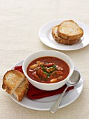 Smoky Bean & Chorizo Tomato Soup