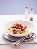 Spaghetti mit Sardinen und Chilli