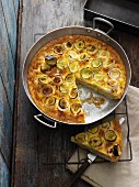 Lauch-Kartoffel-Frittata aus dem Ofen