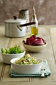 Blue Cheese and Broad Bean Pasta