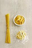 Pasta, getrocknet und frisch
