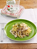 Tagliatelle with chicken, Fennel and Lemon