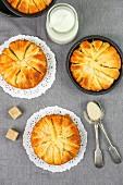 Mini apple cakes and sugar