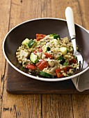 Barley Risotto with mushrooms & Zucchini
