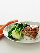 Glazed Ginger Fish with Baby Pak Choy