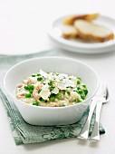 Creamy Rice & Peas (risi e bisi)