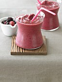 Berry Breakfast Smoothie with Straw