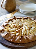 Apple and pear galette