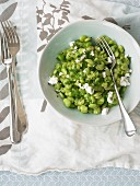 Lima beans with feta cheese