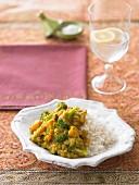 Wintergemüse-Dal mit Reis (Indien)