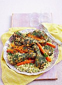 Coriander chicken with coconut couscous