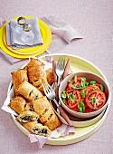 Spinach & artichoke parcels