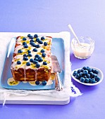 assionfruit & pineapple yoghurt cake