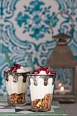 Rose-scented yoghurt dessert (Morocco)