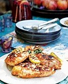 Spicy chicken breasts with pine nuts and lemons