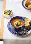 Tomato gazpacho with toasted bread