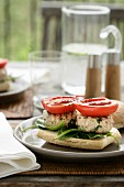 Chicken Burgers with Roast Tomato and Spinach
