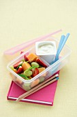 Lunch Box Legends - Minted Fruit Salad and Yogurt