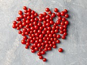 Cherry tomatoes in a heart shape