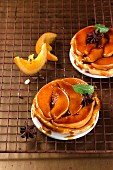 Trate tatin with quince and caramelised oranges