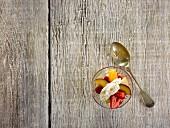 Flummery or llymru (Welsh dessert)