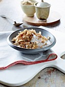 Porridge with coconut and chai spices