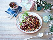 Moroccan kidney bean salad