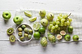 Various green fruits
