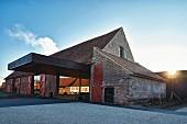 The front of the Restaurant Hertog Jan De Hoeve, Belgium