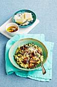 Barley, leek & mushroom risotto