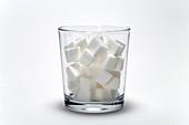 Sugary drinks,conceptual image