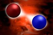 Quantum vacuum fluctuations,illustration