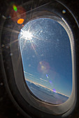 Sunlight flare in aircraft window