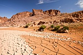 Dry riverbed,Morocco