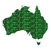Digital Australia,conceptual image