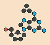 Abacavir HIV drug molecule