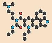 Cabergoline drug molecule
