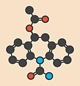 Eslicarbazepine acetate molecule