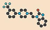 Flibanserin sexual desire drug molecule