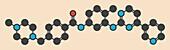 Imatinib cancer drug molecule
