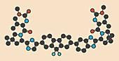 Ledipasvir hepatitis C drug molecule