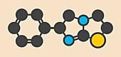 Levamisole antihelmintic drug molecule