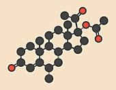 Medroxyprogesterone acetate molecule