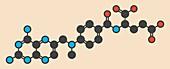 Methotrexate cancer drug molecule