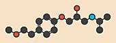 Metoprolol high pressure drug molecule
