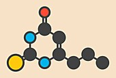 Propylthiouracil drug molecule