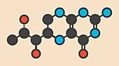 Tetrahydrobiopterin drug molecule