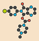Zopiclone insomnia drug molecule