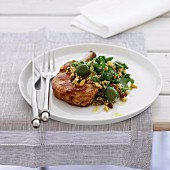 Pork Cutlets and Lemon Burghul Salad